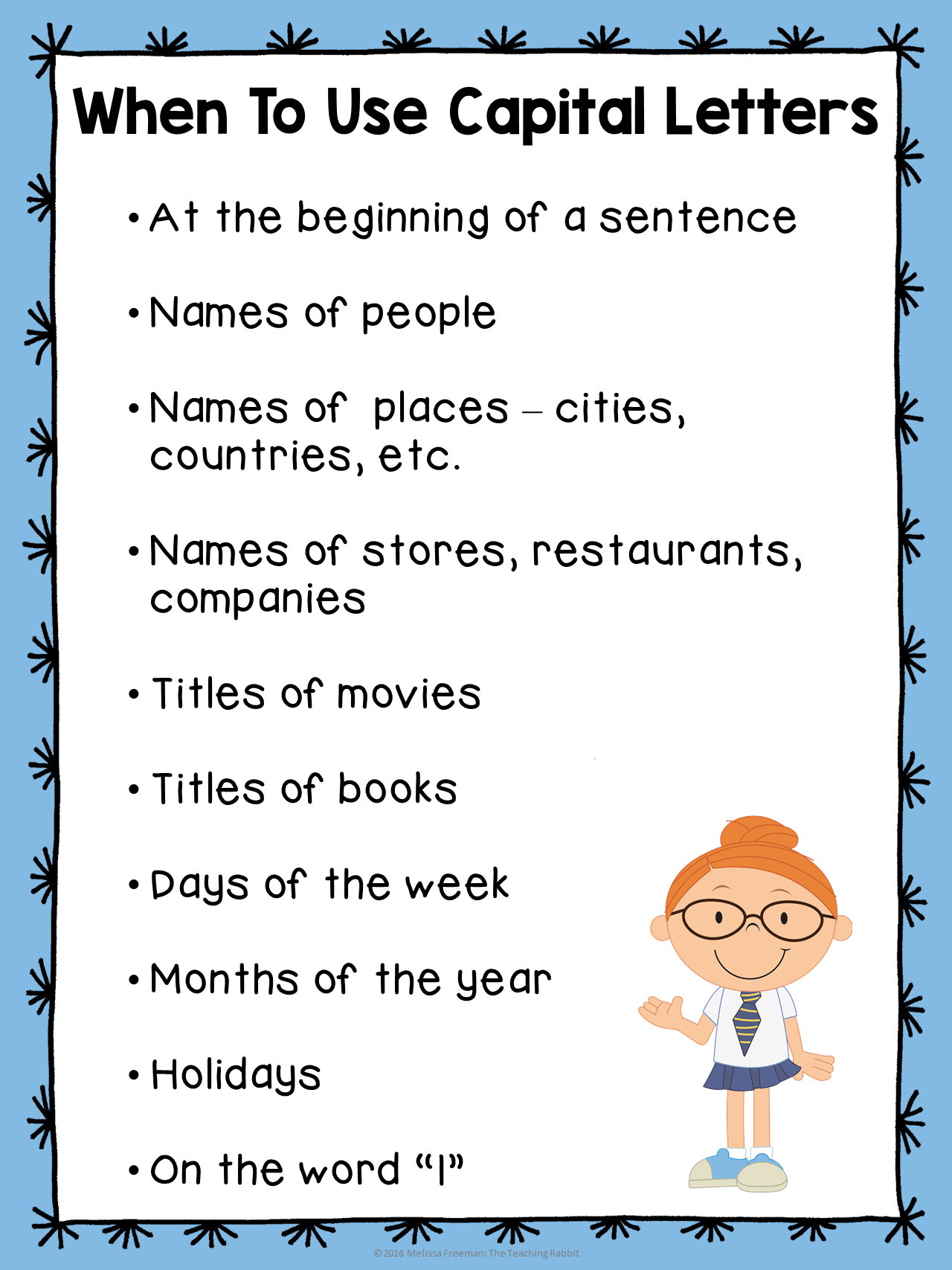 Capital Letter Beginning Sentence.Editing Sentences And Paragraphs The Teaching Rabbit